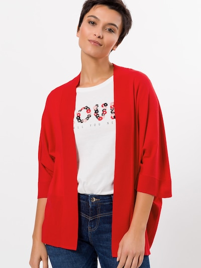 zero Strickjacke in rot, Modelansicht