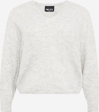 PIECES Pullover 'Sunny' in hellgrau, Produktansicht