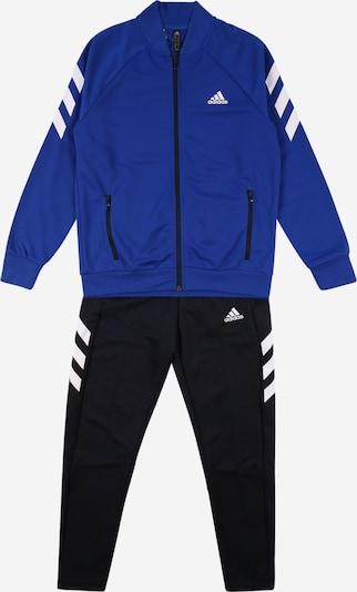 Treniruočių kostiumas iš ADIDAS PERFORMANCE , spalva - mėlyna / juoda / balta, Prekių apžvalga