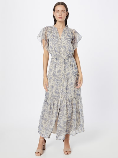 Maison 123 Kleid 'LAIZA' in ecru / taubenblau, Modelansicht