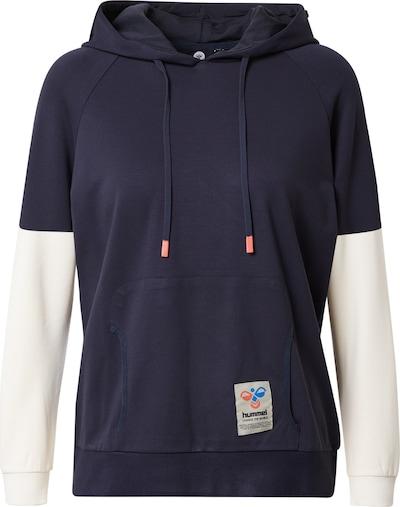 Hummel Sweatshirt i navy / hvid, Produktvisning