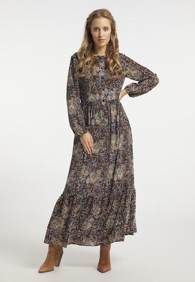usha FESTIVAL Kleid in beige / braun / mischfarben, Modelansicht