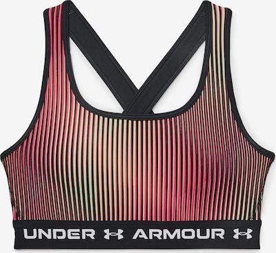 Reggiseno sportivo UNDER ARMOUR di colore giallo neon / rosso neon / nero, Visualizzazione prodotti