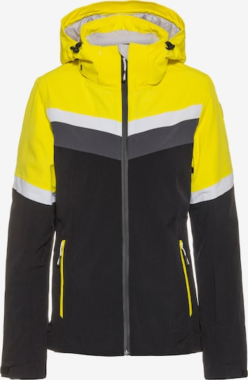 ICEPEAK Jacke 'Folkston' in gelb / schwarz, Produktansicht