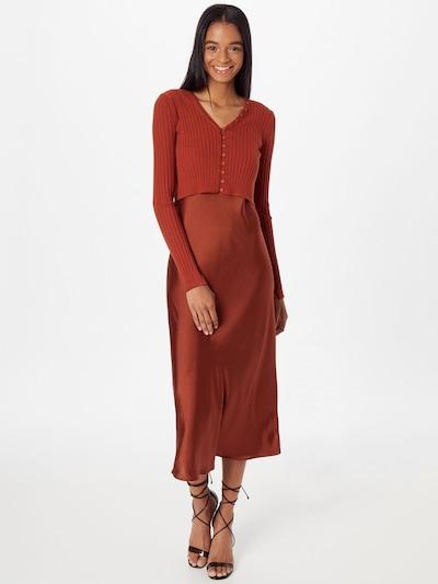 AllSaints Vestido 'Ondra' en marrón rojizo, Vista del modelo