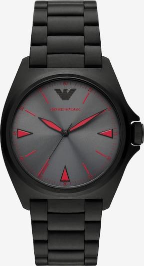 ARMANI Analoguhr in rot / schwarz, Produktansicht