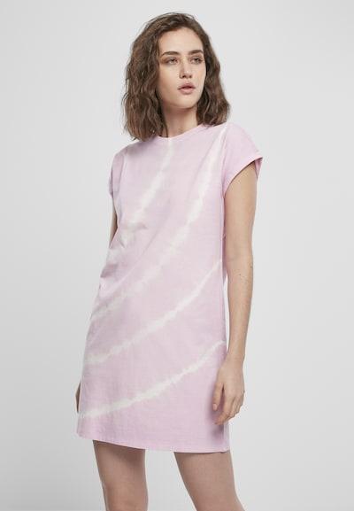 Urban Classics Kleid in pastellpink / weiß, Modelansicht