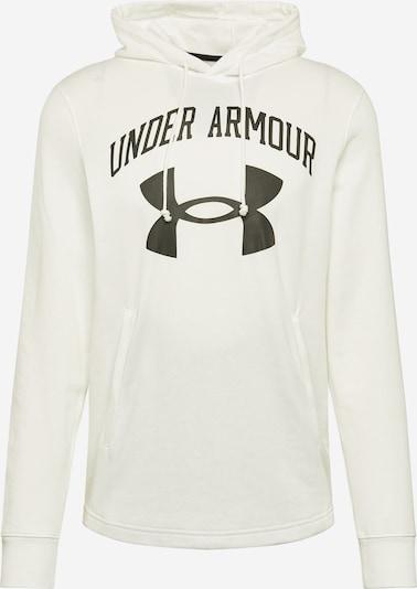 UNDER ARMOUR Sportsweatshirt 'Rival' in schwarz / offwhite, Produktansicht