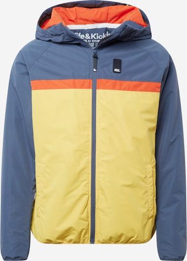 Alife and Kickin Jacke 'Mr Diamond' in taubenblau / gelb / orange, Produktansicht