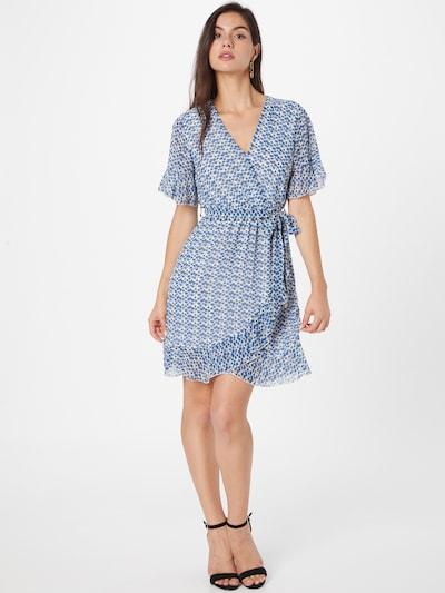 SISTERS POINT Kleid 'NEW GRETO' in royalblau / anthrazit / weiß, Modelansicht