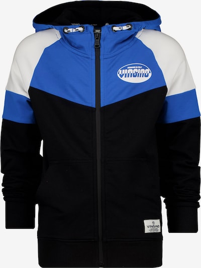 VINGINO Sweatjacke 'OLEG' in royalblau / schwarz / weiß, Produktansicht
