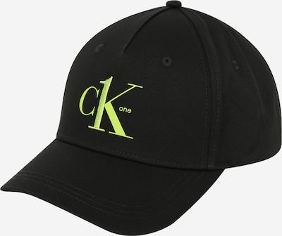 Șapcă Calvin Klein pe verde neon / negru, Vizualizare produs