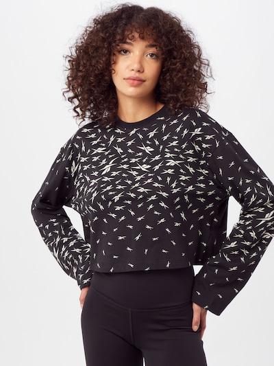 Reebok Sport Shirt in schwarz / weiß: Frontalansicht