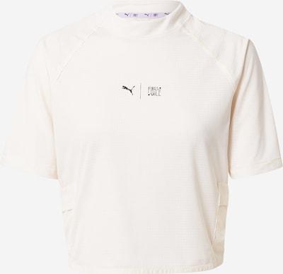 PUMA Sportshirt in schwarzmeliert / eierschale, Produktansicht