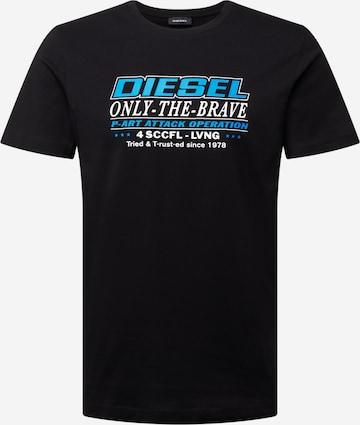 DIESEL T-Shirt  'DIEGOS' in Schwarz