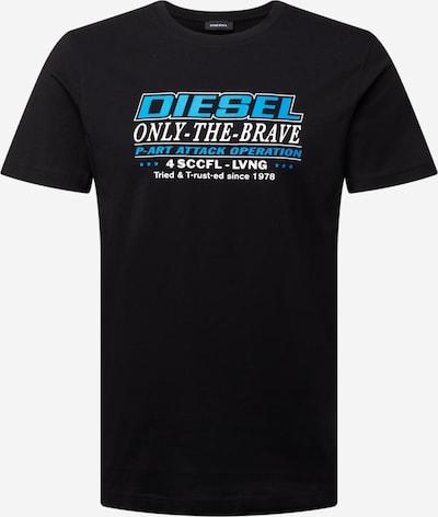DIESEL T-Shirt  'DIEGOS' in himmelblau / schwarz / weiß, Produktansicht