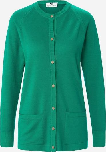 Peter Hahn Strickjacke aus 100% Schurwolle in grün, Produktansicht