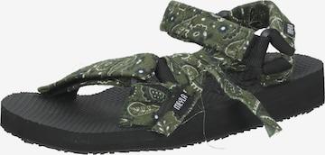 Meyla Bandana Hiking Sandals in Green