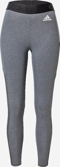 ADIDAS PERFORMANCE Sport-Hose in dunkelgrau / graumeliert / schwarz / weiß, Produktansicht