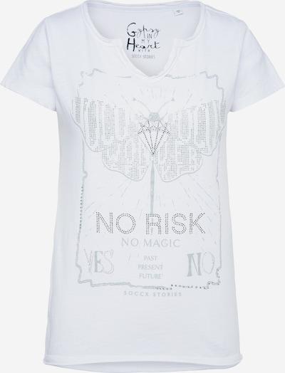 Soccx Тениска в сиво / сребърно / бяло, Преглед на продукта