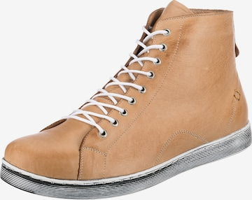 ANDREA CONTI High-Top Sneakers in Brown
