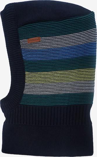 MAXIMO Cepure, krāsa - zils / jūraszils / dzeltens / smaragda / balts, Preces skats