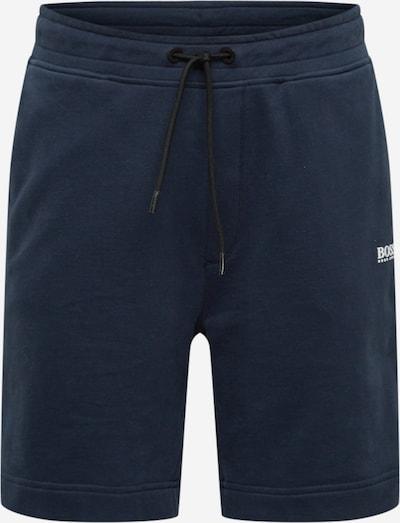 BOSS Casual Pantalon en bleu marine / blanc, Vue avec produit