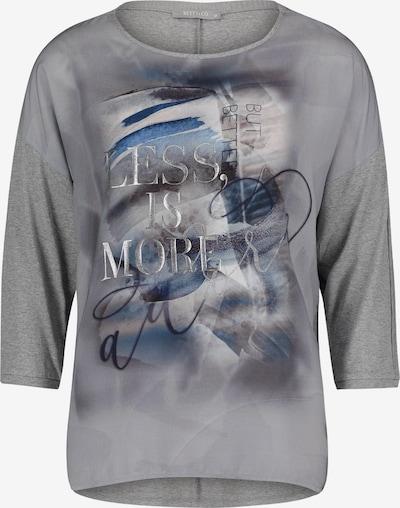 Betty & Co Casual-Shirt mit 3/4 Arm in blau / grau, Produktansicht