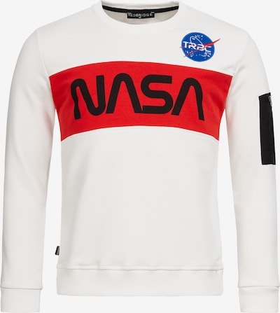 Redbridge Pullover McKinney NASA Print & Patches in weiß, Produktansicht