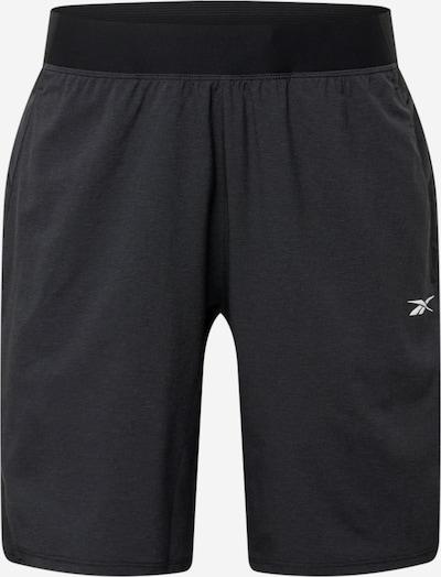 Reebok Sport Sportbroek 'Epic' in de kleur Zwart / Wit, Productweergave