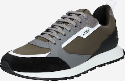 Sneaker bassa 'Icelin' HUGO di colore grigio / cachi / nero / bianco, Visualizzazione prodotti