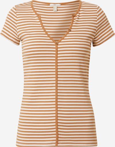 Tricou EDC BY ESPRIT pe maro caramel / alb, Vizualizare produs
