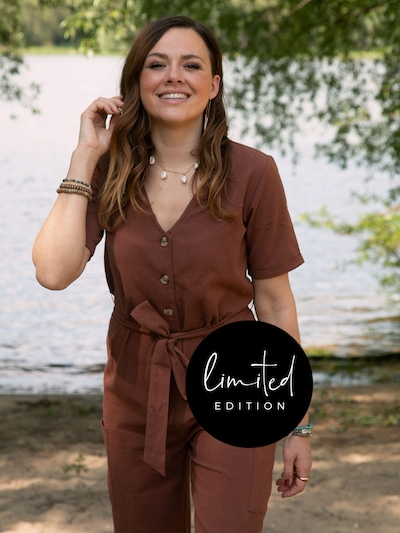 ABOUT YOU Limited Jumpsuit 'Yvonne' in Brown, View model