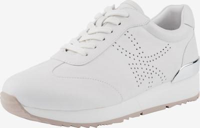 Ekonika Sneaker mit Schnürung in weiß: Frontalansicht