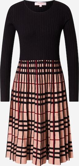 Derhy Kleid 'QUESTION' in beige / dunkelrot / schwarz, Produktansicht