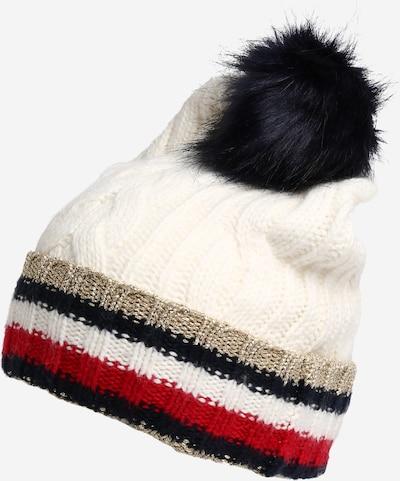 TOMMY HILFIGER Bonnet en mélange de couleurs / blanc, Vue avec produit