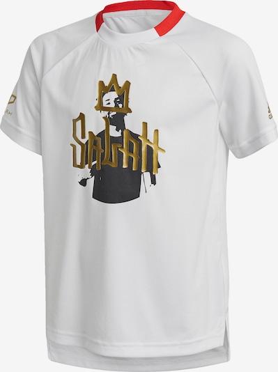 ADIDAS PERFORMANCE T-Shirt in gold / rot / schwarz / weiß, Produktansicht