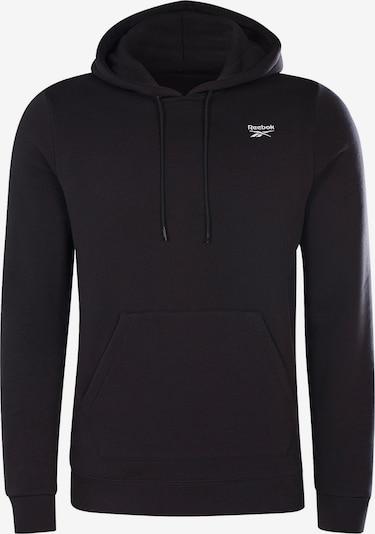 Reebok Sport Спортен блузон с качулка в черно / бяло, Преглед на продукта