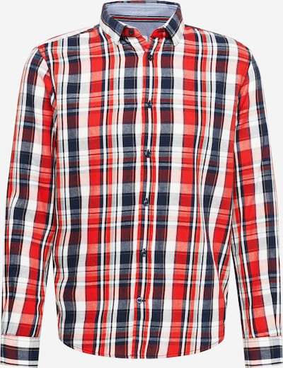 TOM TAILOR Button Up Shirt in Blue / Red / White, Item view