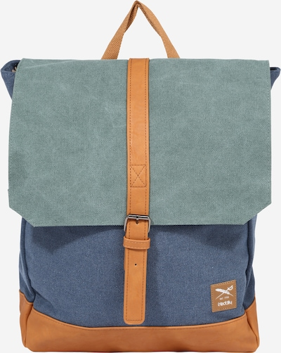 Iriedaily Backpack 'Deep Lake' in Dusty blue / Pastel blue / Cognac, Item view