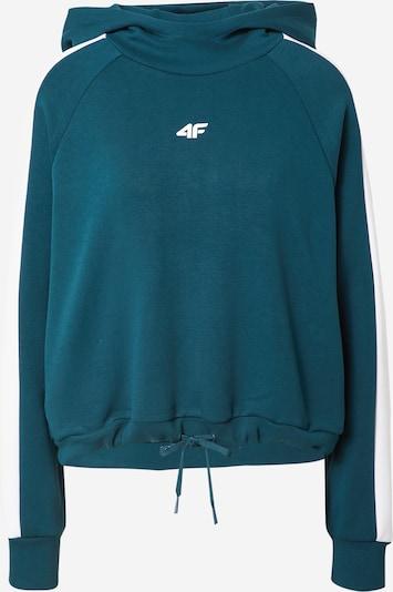 4F Athletic Sweatshirt in Petrol / White, Item view