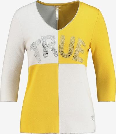 Key Largo Pullover 'CHESS' in gelb / weiß, Produktansicht