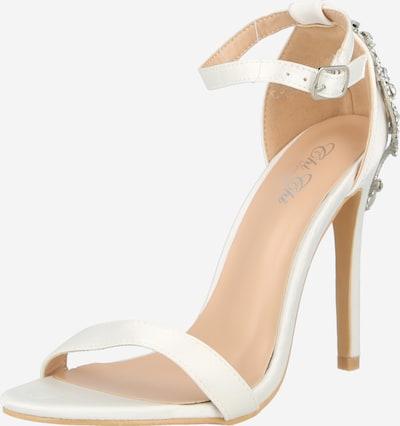 Chi Chi London Sandale in silber / weiß, Produktansicht