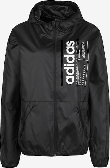 ADIDAS PERFORMANCE Sportjas 'Brilliant Basics' in de kleur Zwart / Wit, Productweergave