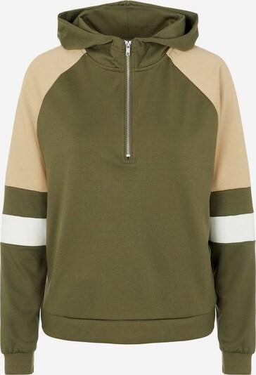 PIECES Sweatshirt in beige / grün / weiß, Produktansicht