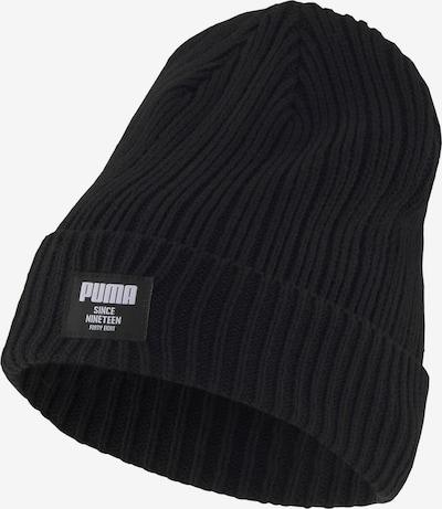 PUMA Bonnet en noir / blanc, Vue avec produit