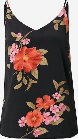 Top 'Cami' Dorothy Perkins di colore oliva / colori misti / rosa chiaro / melone / nero: Vista frontale