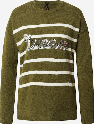 Key Largo Pullover 'Dream' in khaki / weiß, Produktansicht