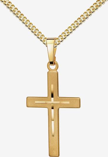JEVELION Anhänger Kreuz + Kette in gold, Produktansicht