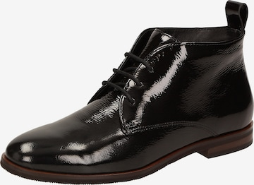 SIOUX Lace-Up Ankle Boots 'Bovinia' in Black